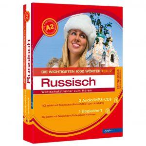 Audiotrainer Die wichtigsten 1000 Wörter A2 Russisch Auflage 2 - Boxansicht