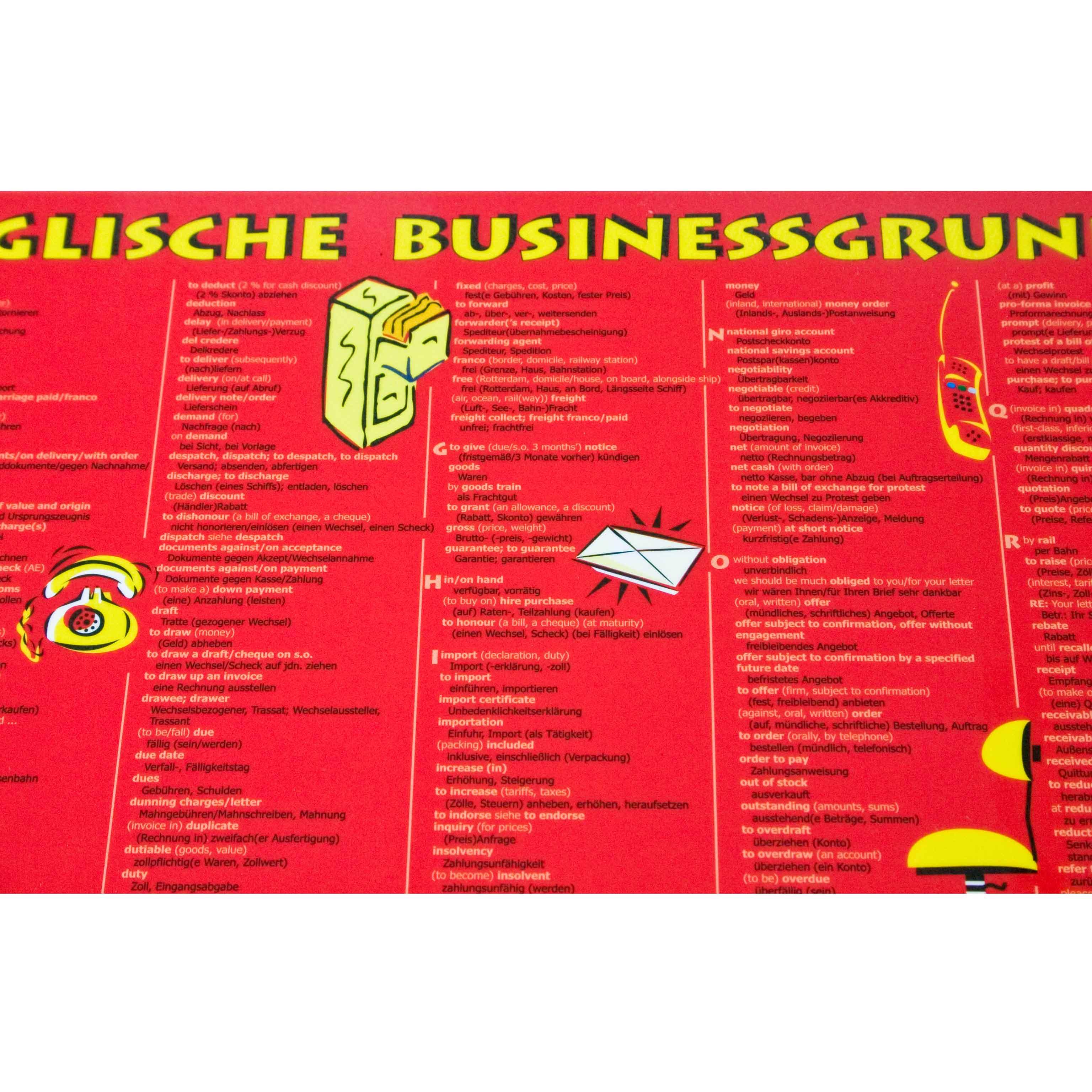 Schreibunterlage Business Grundwortschatz Englisch Din A3 Dnf Verlag